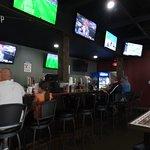 Long bar - lots of tv's
