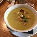 Asparagus soup. Delicious!
