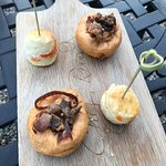 Canapes by the lawn