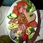 Appetizer cold cut plate