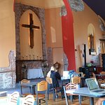 Former church is now a coffee shop with details and character