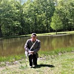 Professional Tour Guide Larry Deberry at The Bloody Pond at Shiloh National Military Park.