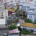 Looking at Gibraltar Town from the Moorish Castle.