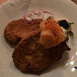 Jarema Restaurant-Placki ziemniaczane z łososiem/Potato pancakes with salmon