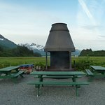 Campground fire pit.