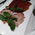 Skin and darker meat of the duck