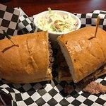 Sonney's BBQ Brisket Sandwich ($16) with slaw ($1)