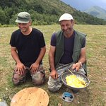 Alessandro and Luca make omelette with truffles