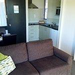 sitting/kitchen area.
