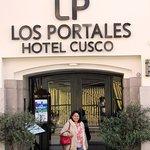 At the entrance of Los Portalies at Cusco