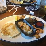 sole, breaded shrimp, shrimp scampi w/baked potato