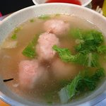 蝦団子スープも美味しかった