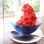 shaved ice :home made strawberry syrop