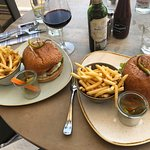 Smokehouse Burgers with fries