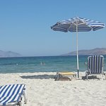 The beach just 5 mins walk