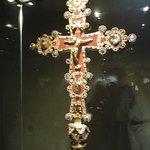 Jewelled cross on display