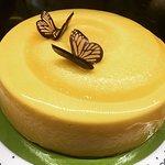 Mousse de mango con maracuyá