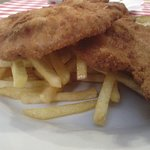pork cutlets with french fries