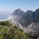 Magnificent view along the way of the hike to the top of Morro Dois Irmãos.