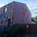 The Strip District, Pittsburgh, is a street gallery of art. All design, sculptures and graffiti