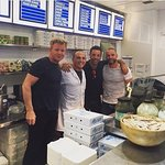 Antonio the owner with Gordon Ramsay, Gino D'Acampo and Fred Sirieix after their fantastic meal