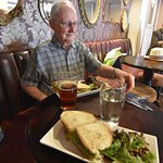 Dad & I enjoy the crab sandwiches & the wonderful atmosphere at lunctime