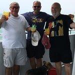 The guys enjoying the boat ride!