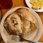 The cinnamon roll is to die for! Not heavy and gunky, light and so yummy!
