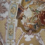 The painted ceiling at St Peter's Church