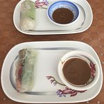 Our summer rolls with dipping sauce