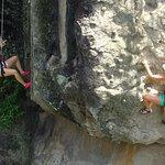Rapelling and rock climbing!