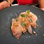 Black Bass Crudo (Charred Eggplant, Dukkah) $18