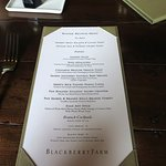 Blackberry Farm - Dining at the Main House March Menus