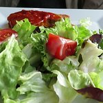 Tuna plate with salad.