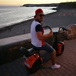 Sunset at Meloneras - Hire an Electric Scooter Chopper Harley