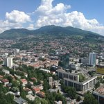 View of Sarajevo city from 36th floor