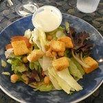 underfilled tossed salad