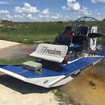 Airboat for semi-private tour -- I think it fits a maximum of 7