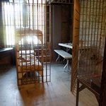 Jail cell in museum.