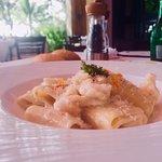 Delicious lobster pasta