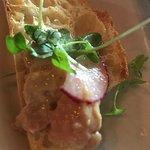 Foie Gras,white truffle honey, grey sea salt, radish, greenery