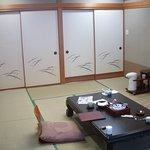 部屋はこのような感じです。和室です。