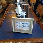 """A nice touch instead of a """"Reserved"""" sign"""