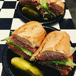 Greenberg & Son's Deli - smoked meat sandwiches which we had for breakfast each morning