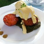 Breakfast - Poached eggs and rosti