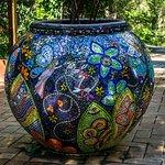 A beautiful mosaic planter