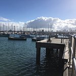 St Kilda Yacht Club at the end of the pier.