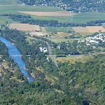 The Barron River and Western Arterial Road far below