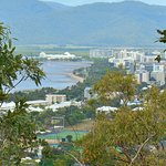 Almost at the top - views over Cairns Esplanade