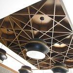 Attractive ceiling in Banquets lobby, Haldiram Food City, Ballygunje, Kolkata.
